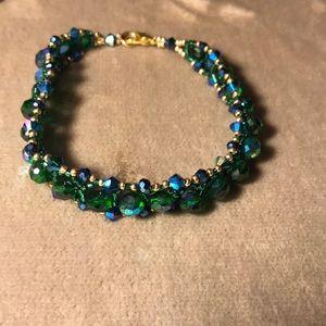 Handmade Green Lantern Bracelet